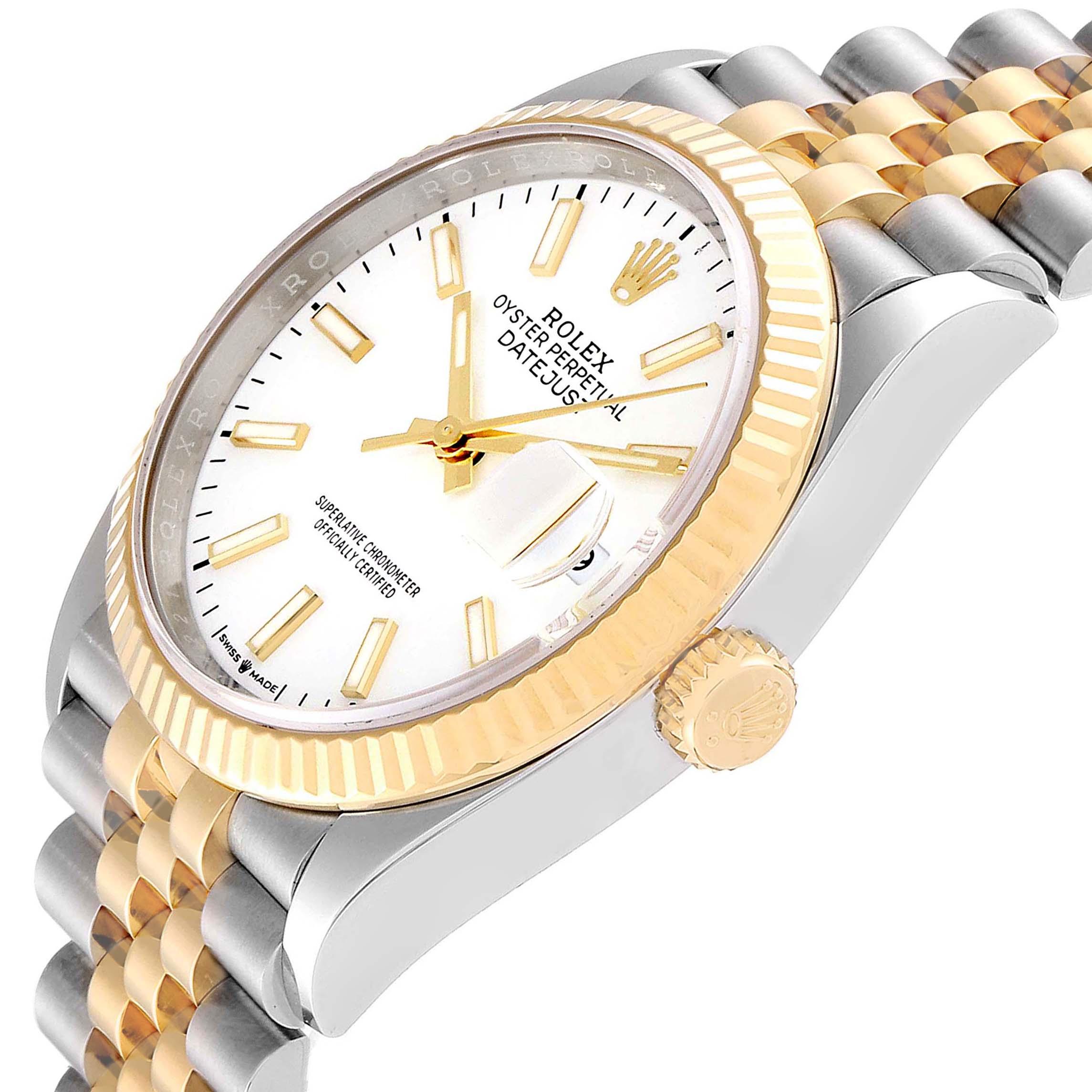 Rolex Datejust Steel Yellow Gold Jubilee Bracelet Men's Watch 126233 SwissWatchExpo