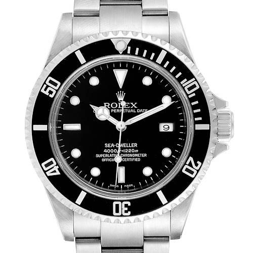 Photo of Rolex Sea-Dweller Black Dial Automatic Steel Mens Watch 16600 Box Card