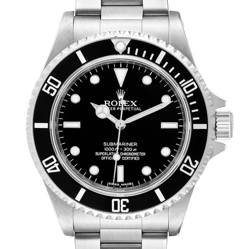 Rolex Submariner 40mm Non-Date 4 Liner Steel Steel Mens Watch 14060 SwissWatchExpo