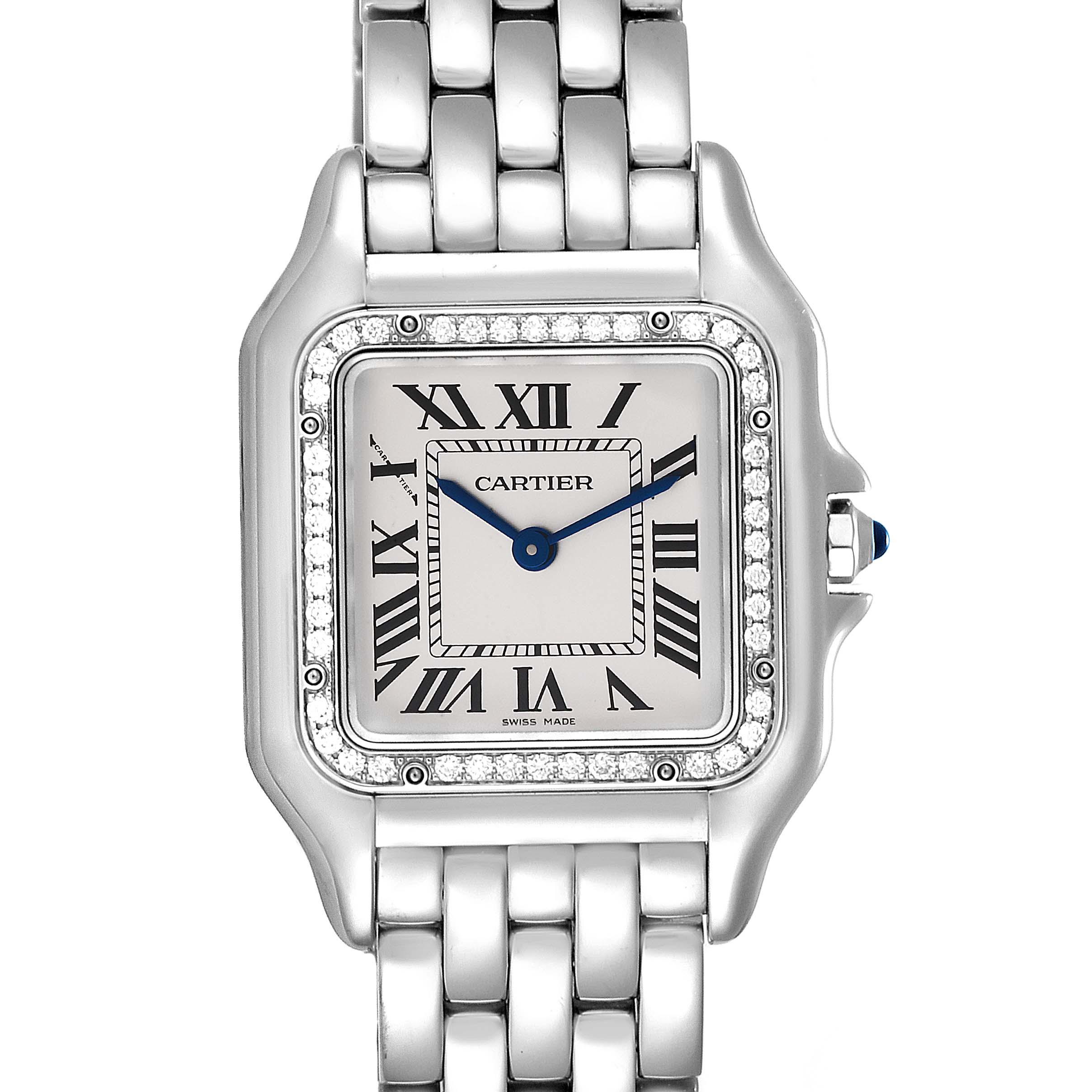 Photo of Cartier Panthere Medium Steel Diamond Ladies Watch W4PN0008