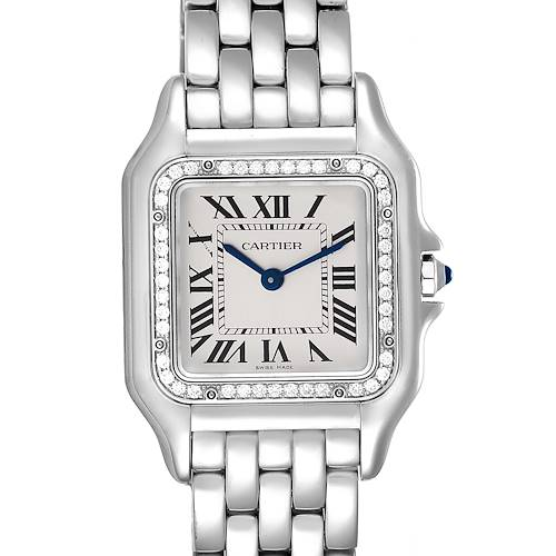Photo of Cartier Panthere Medium Steel Diamond Ladies Watch W4PN0008