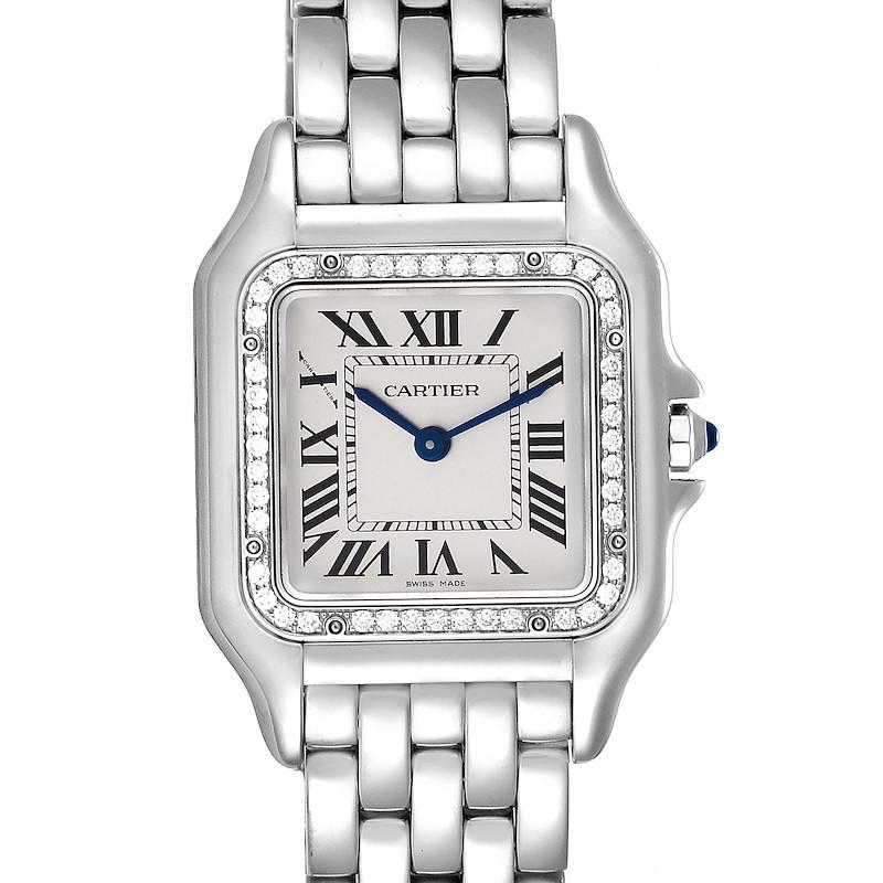 Cartier Panthere Medium Steel Diamond Ladies Watch W4PN0008 SwissWatchExpo