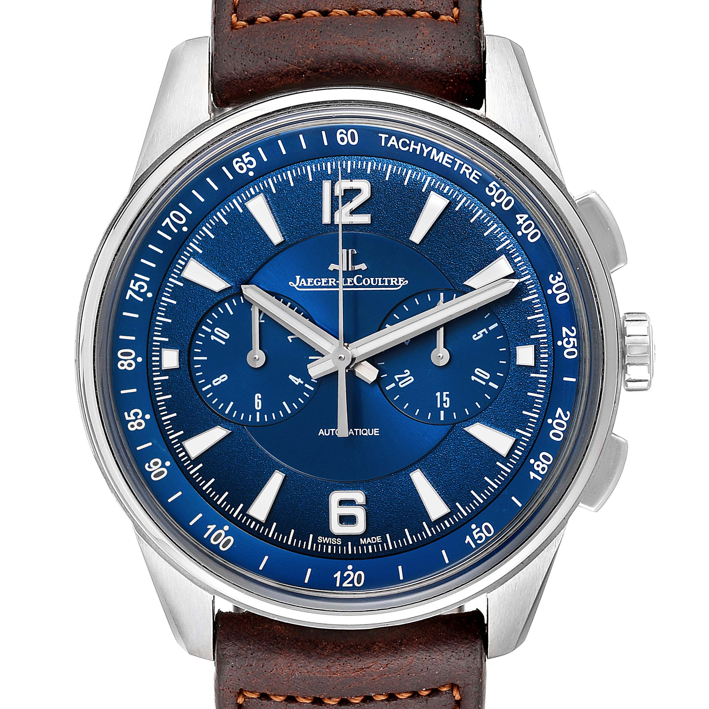 Photo of Jaeger Lecoultre Polaris Blue Dial Chronograph Steel Mens Watch 842.8.C1.s