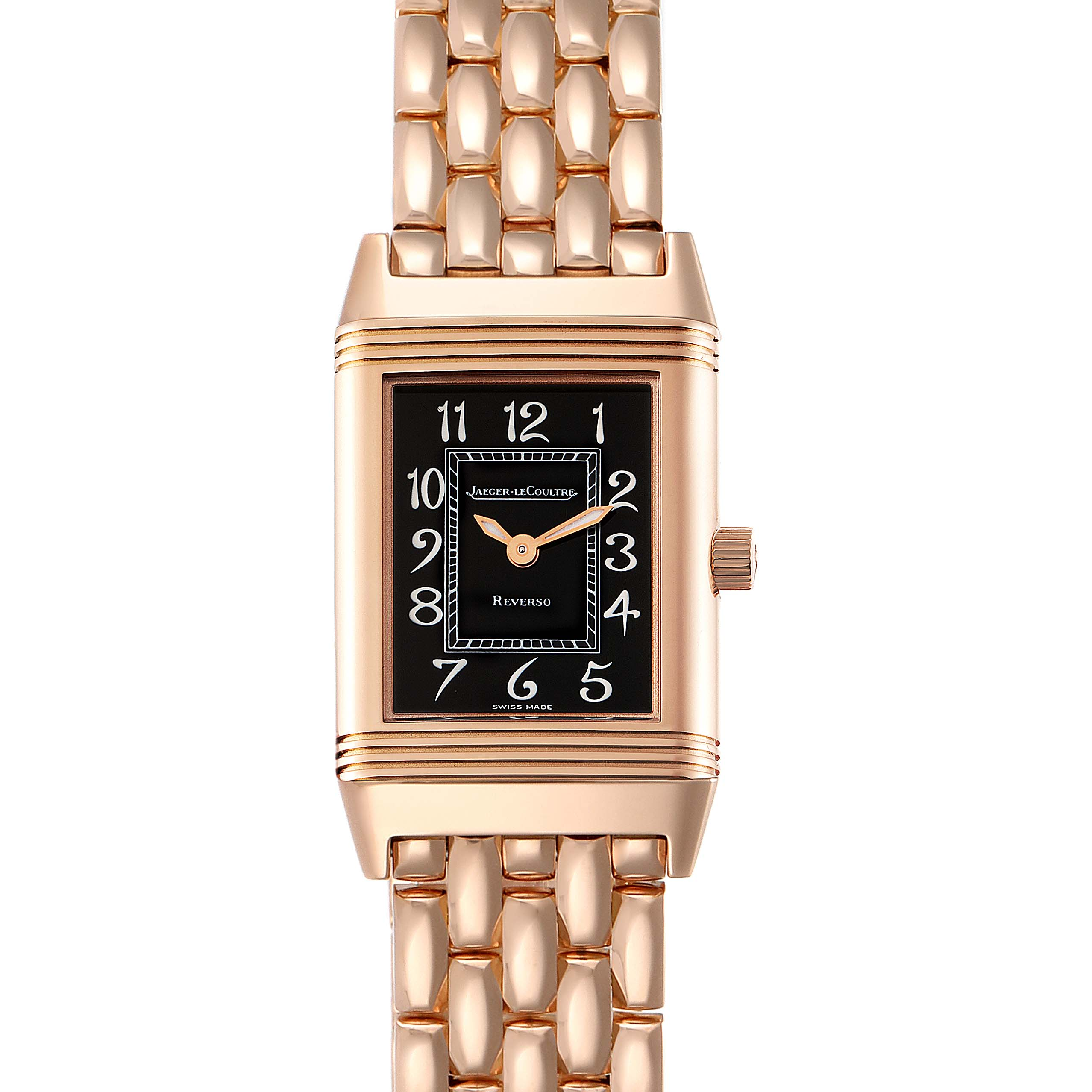 Jaeger LeCoultre Reverso Rose Gold Ladies Watch 260.2.86 Box Papers