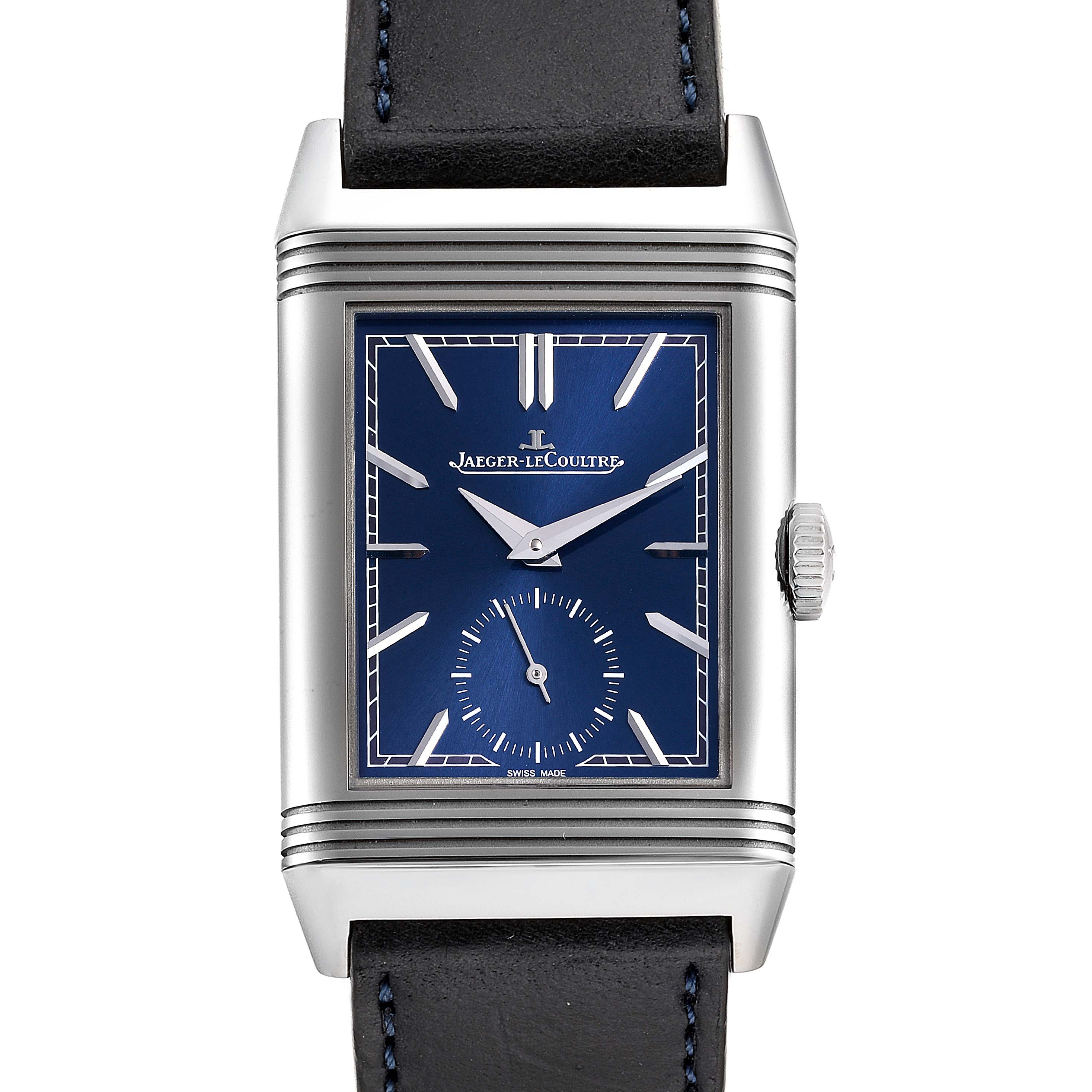 Photo of Jaeger LeCoultre Reverso Tribute Mens Watch 214.8.62 Q3808420 Box Papers