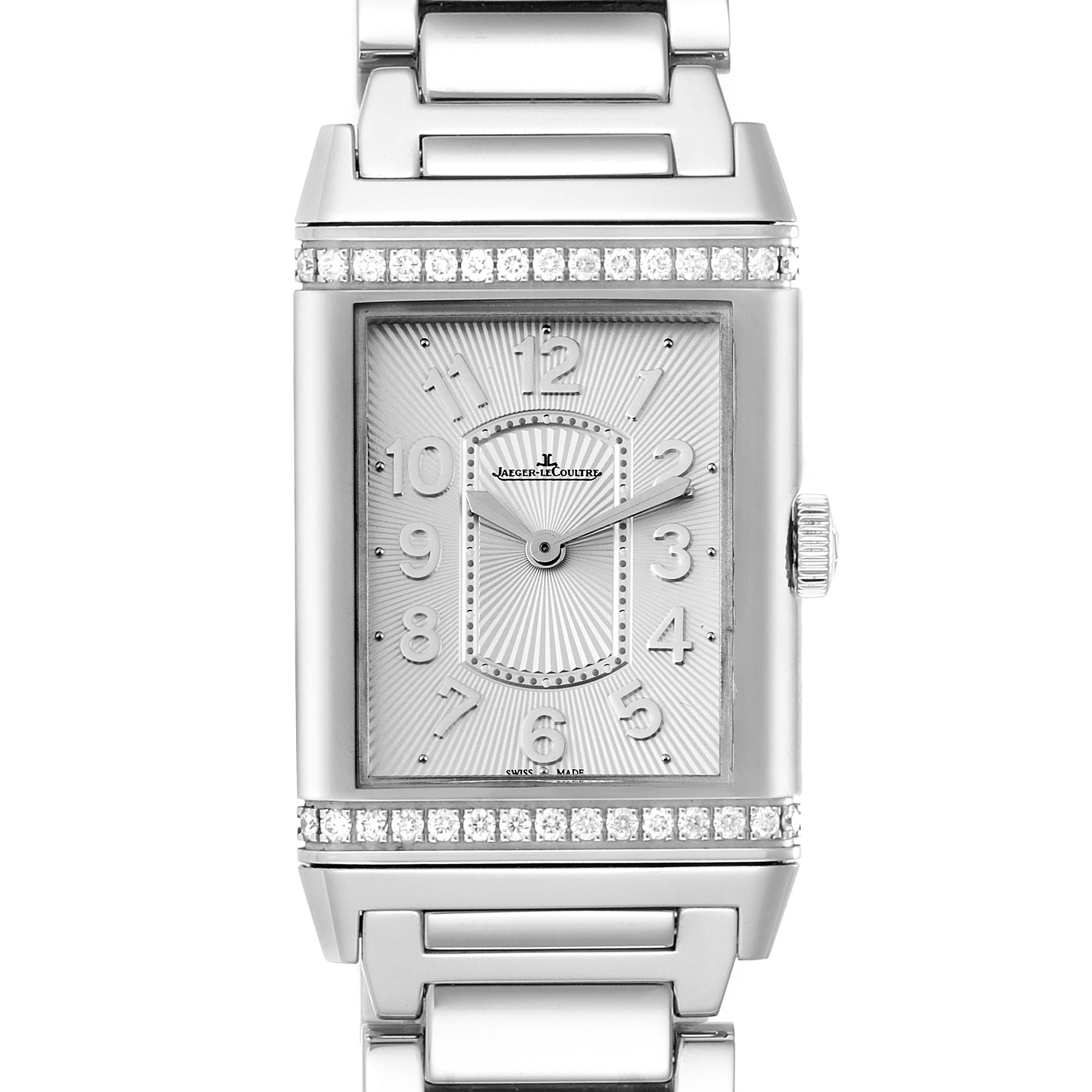 Jaeger LeCoultre Reverso Ultra Thin Diamond Ladies Watch 268.8.86 Q3208121