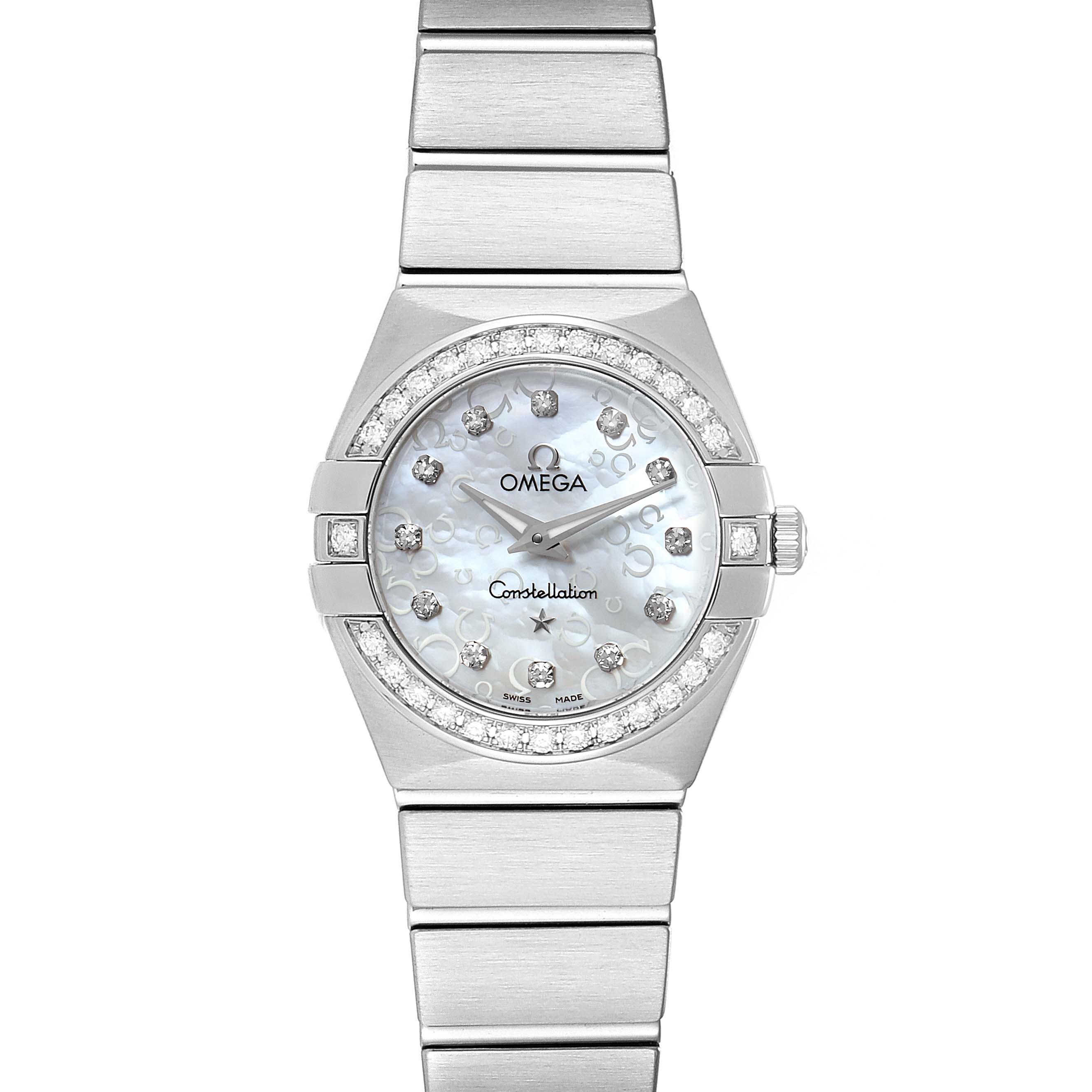 Photo of Omega Constellation 27mm Diamond Ladies Watch 123.15.24.60.52.001
