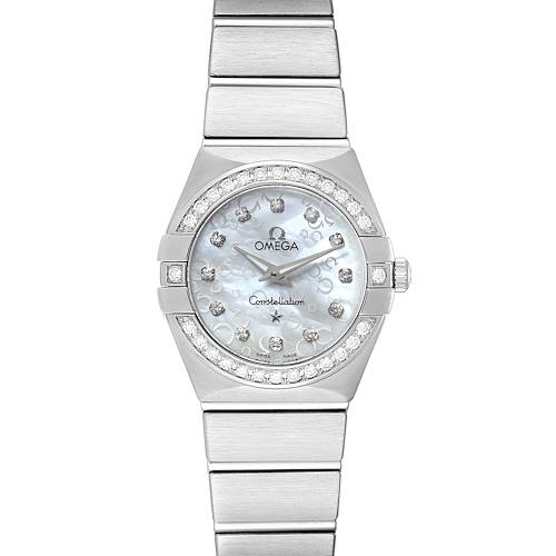 Omega Constellation 27mm Diamond Ladies Watch 123.15.24.60.52.001