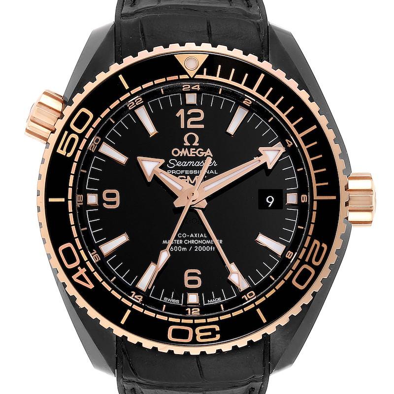 Omega Planet Ocean Deep Black Ceramic GMT Watch 215.63.46.22.01.001 Unworn SwissWatchExpo