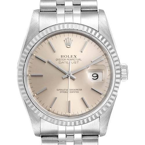 Photo of Rolex Datejust Jubilee Bracelet Steel White Gold Mens Watch 16234