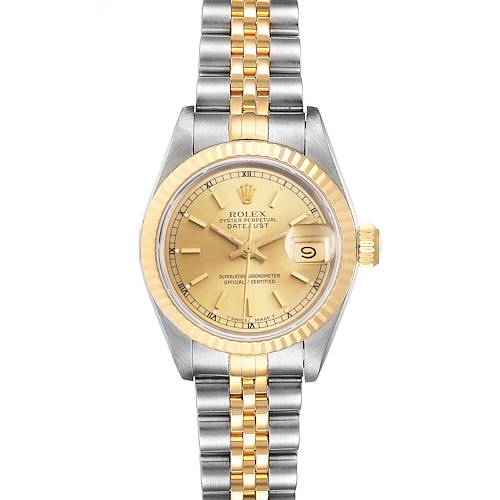 Photo of Rolex Datejust Steel 18K Yellow Gold Ladies Watch 69173 Box Papers