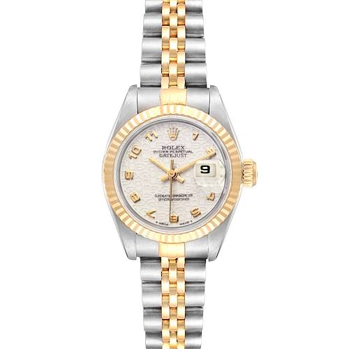 Photo of Rolex Datejust Steel Yellow Gold Anniversary Dial Ladies Watch 69173