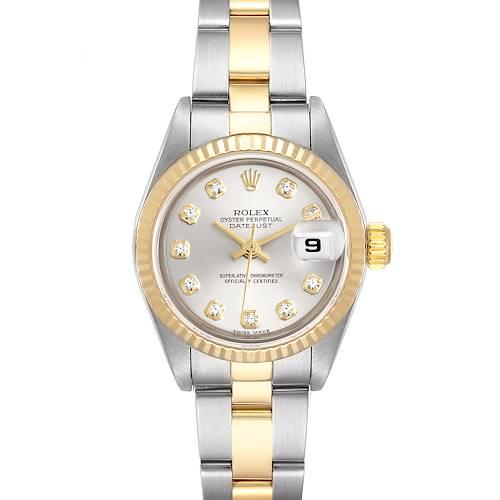 Photo of Rolex Datejust Steel Yellow Gold Diamond Ladies Watch 79173 Box Papers