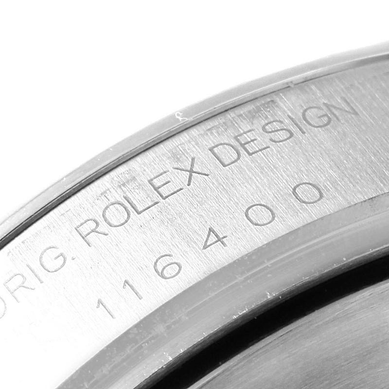 Rolex Milgauss Black Dial Green Crystal Steel Mens Watch 116400GV SwissWatchExpo