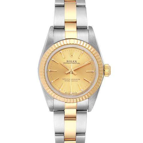 Photo of Rolex Oyster Perpetual Steel Yellow Gold Ladies Watch 76193 Box Papers