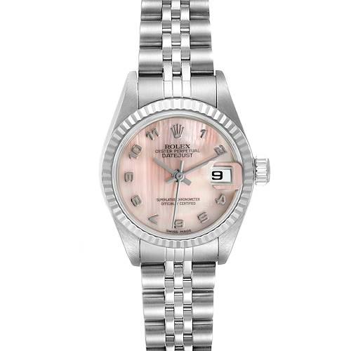 Photo of Rolex Datejust Steel White Gold MOP Dial Ladies Watch 79174