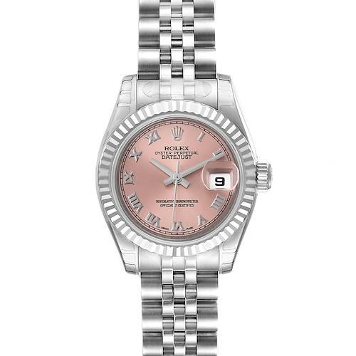 Photo of Rolex Datejust Steel White Gold Salmon Dial Ladies Watch 179174 Unworn