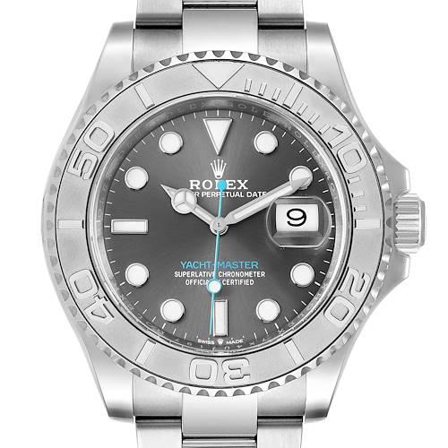 Photo of Rolex Yachtmaster Steel Platinum Rhodium Dial Mens Watch 126622