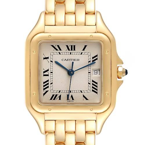 Photo of Cartier Panthere XL Blue Sapphire Yellow Gold Unisex Watch W25014B9