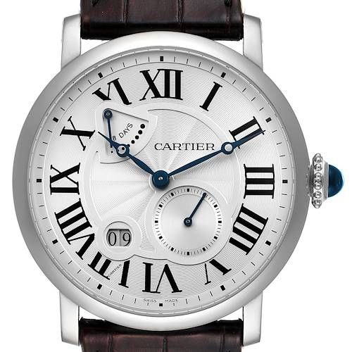 Photo of Cartier Rotonde Silver Dial White Gold Mens Watch W1556202