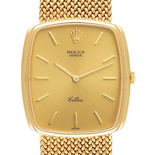 Photo of Rolex Cellini Vintage 18k Yellow Gold Champagne Dial Mens Watch 4086