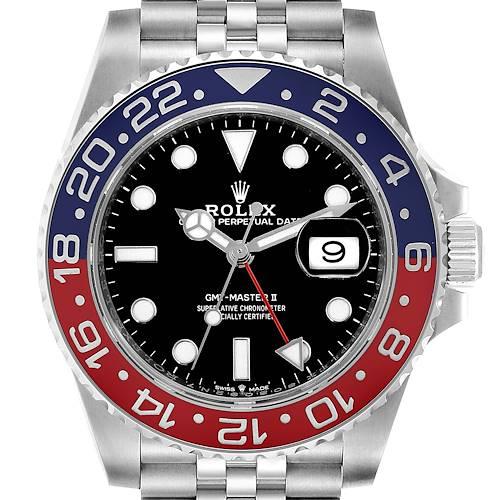 Photo of Rolex GMT Master II Pepsi Bezel Jubilee Steel Mens Watch 126710