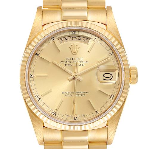 Photo of Rolex President Day-Date 36mm 18k Yellow Gold Mens Watch 18038