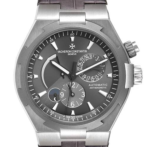 Photo of NOT FOR SALE -- Vacheron Constantin Overseas Dual Time Grey Dial Mens Watch 47450 Box Papers -- PARTIAL PAYMENT