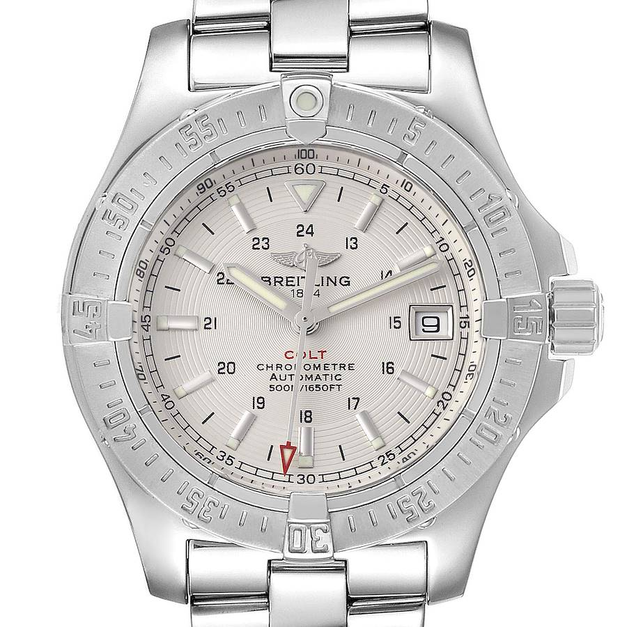 Breitling Colt Silver Dial Automatic Steel Mens Watch A17380 SwissWatchExpo