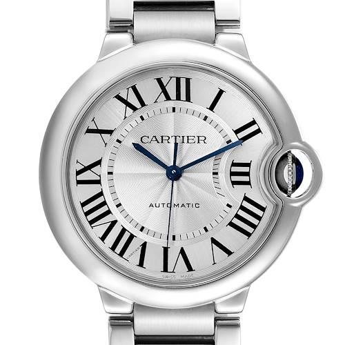 Photo of Cartier Ballon Bleu Midsize 36 Silver Dial Steel Ladies Watch W6920046