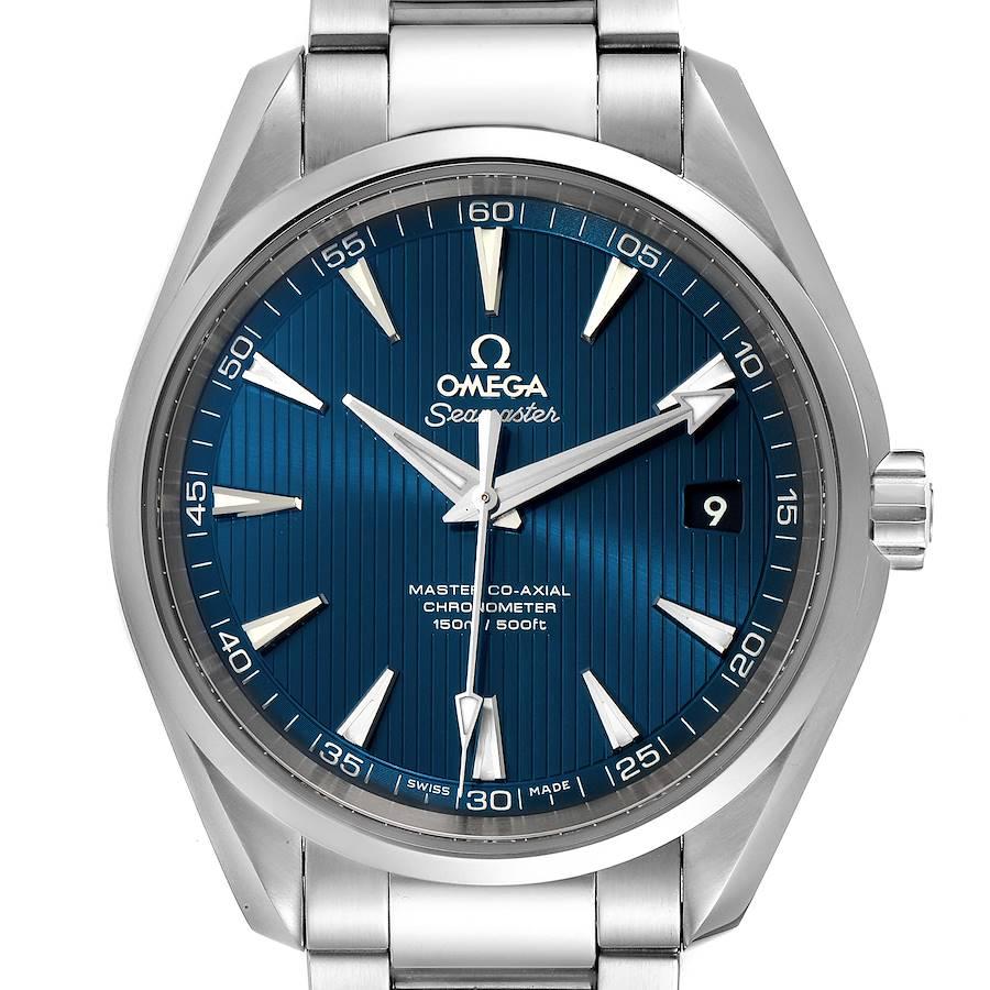 Omega Seamaster Aqua Terra Blue Dial Mens Watch 231.10.42.21.03.003 Card SwissWatchExpo