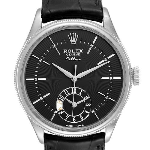 Photo of Rolex Cellini Dual Time White Gold Automatic Mens Watch 50529 Unworn