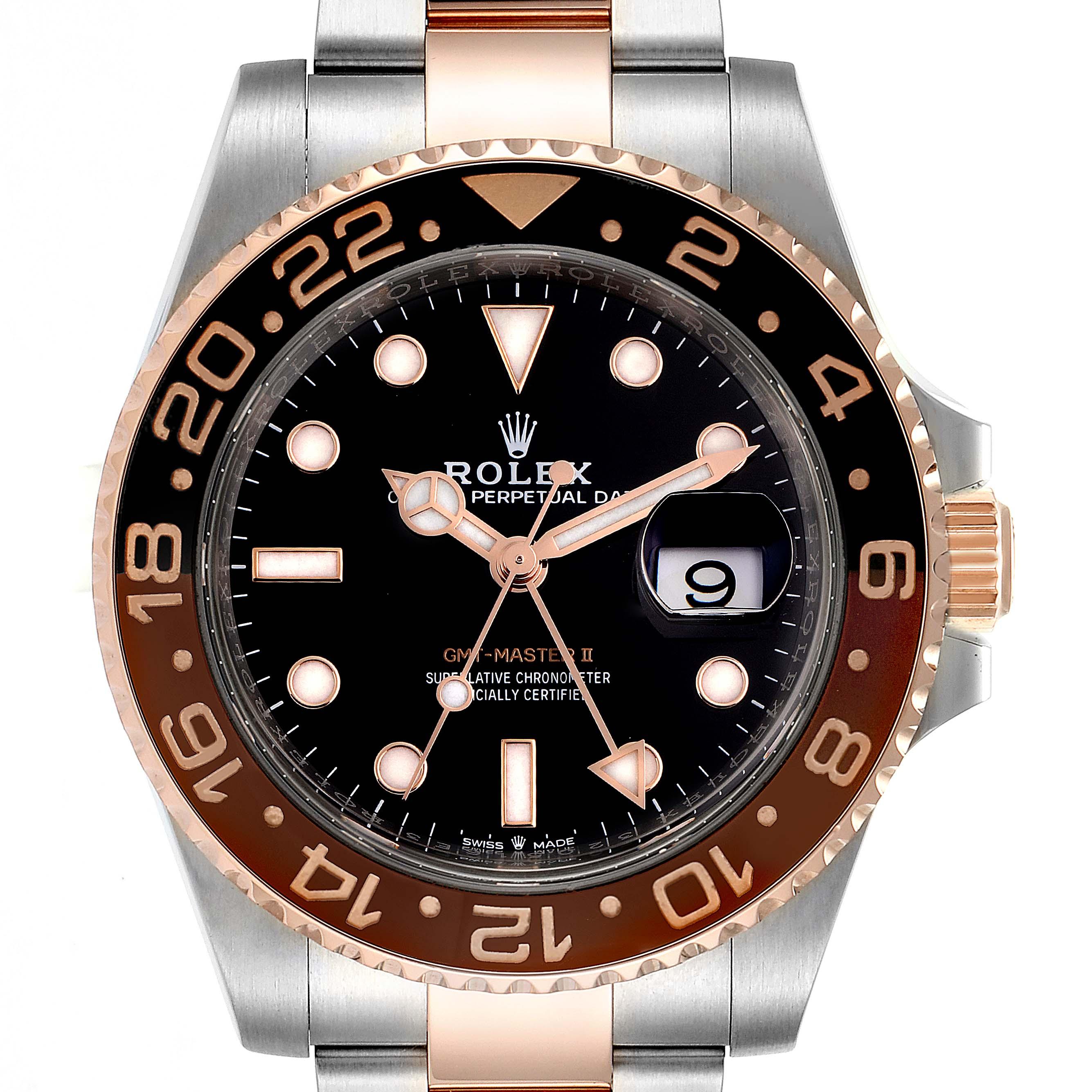 Photo of Rolex GMT Master II Steel Everose Gold Mens Watch 126711