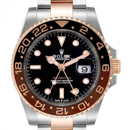 Photo of Rolex GMT Master II Steel Everose Gold Mens Watch 126711