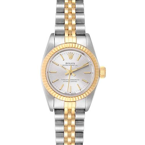 Photo of Rolex Oyster Perpetual Fluted Bezel Steel Yellow Gold Ladies Watch 67193