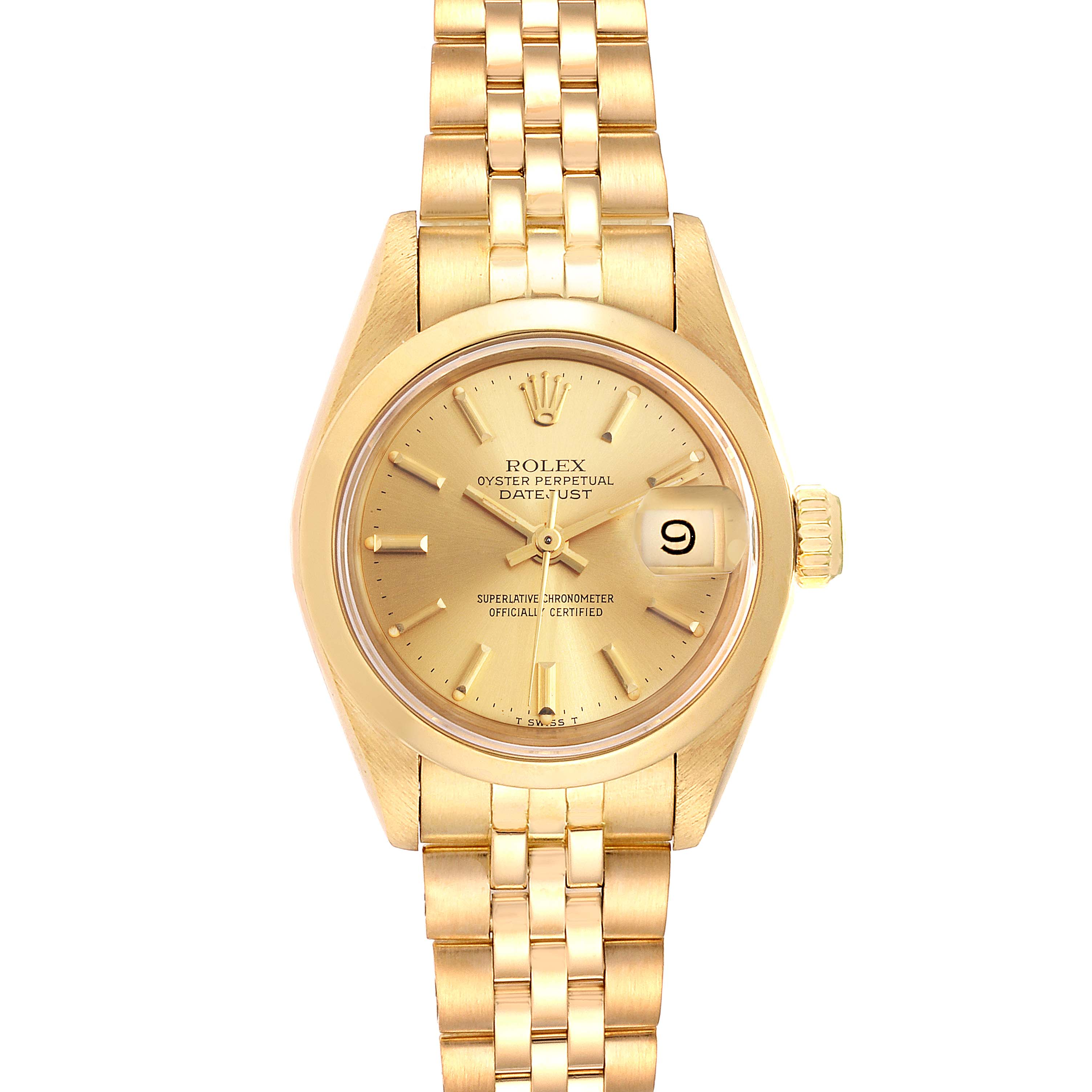 Photo of Rolex President Datejust 18k Yellow Gold Ladies Watch 69168 Box Papers