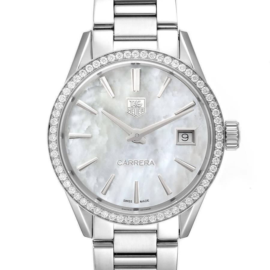 TAG Heuer Carrera MOP Dial Diamond Steel Ladies Watch WAR1315 SwissWatchExpo