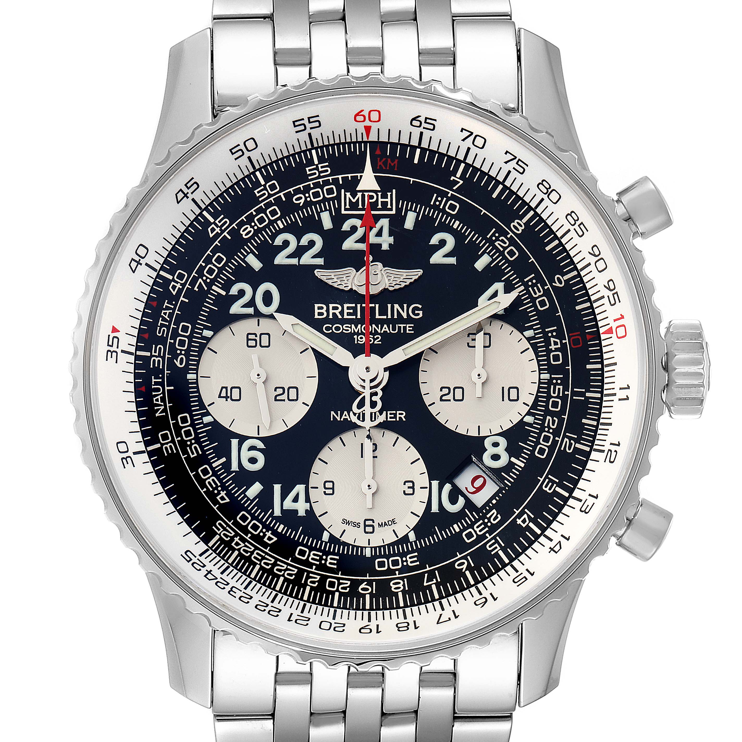 Photo of Breitling Navitimer Cosmonaute 02 Limited Edition Watch AB0210 Box Papers