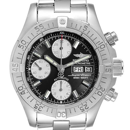 Photo of Breitling Superocean 42 Black Dial Chronograph Steel Mens Watch A13340