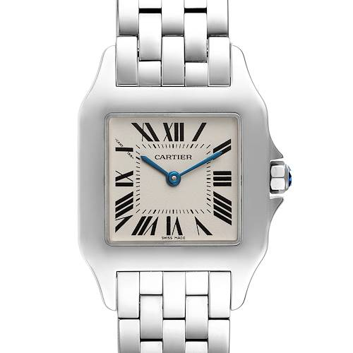 Photo of Cartier Santos Demoiselle Steel Midsize Ladies Watch W25065Z5 Box Papers
