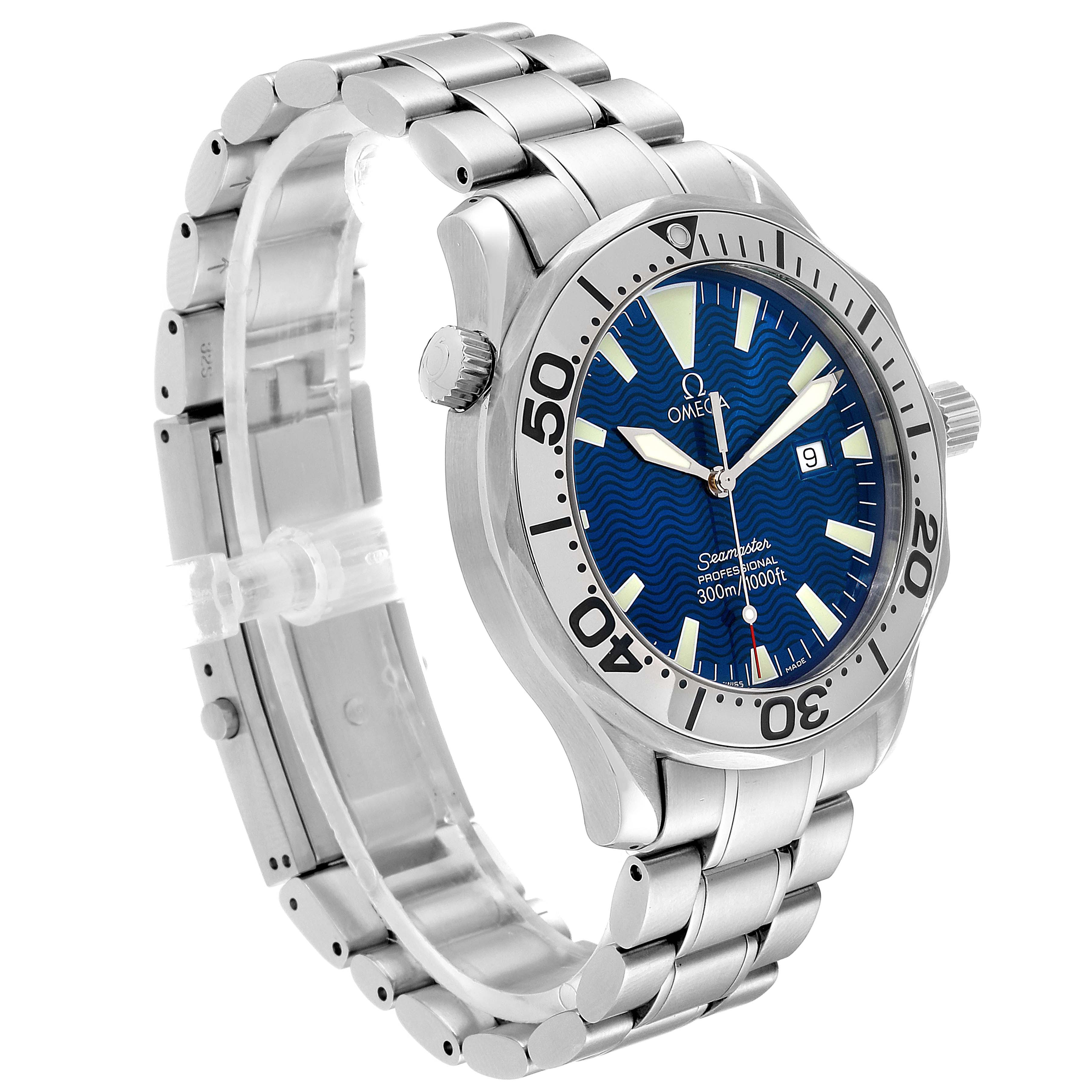 Omega Seamaster 300M Blue Dial Steel Mens Watch 2255.80.00 SwissWatchExpo