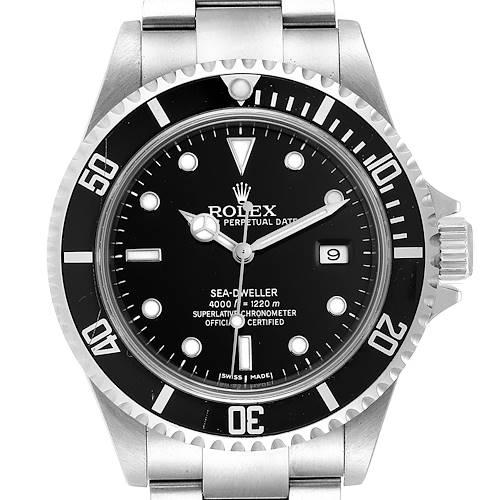 Photo of Rolex Seadweller Black Dial Oyster Bracelet Mens Watch 16600 Box Card