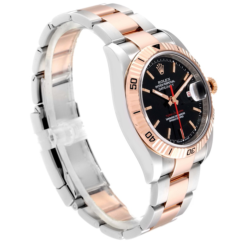 Rolex Turnograph Datejust Steel Rose Gold Mens Watch 116261 Box Papers SwissWatchExpo