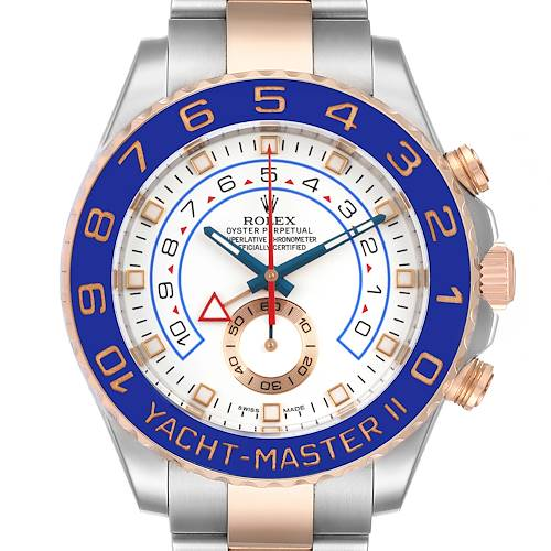 Photo of Rolex Yachtmaster II Rolesor EveRose Gold Steel Mens Watch 116681 Box Card