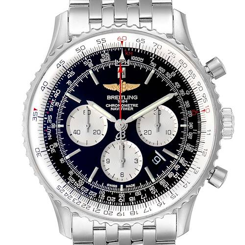 Photo of Breitling Navitimer 01 46mm Black Dial Steel Mens Watch AB0127 Box Papers