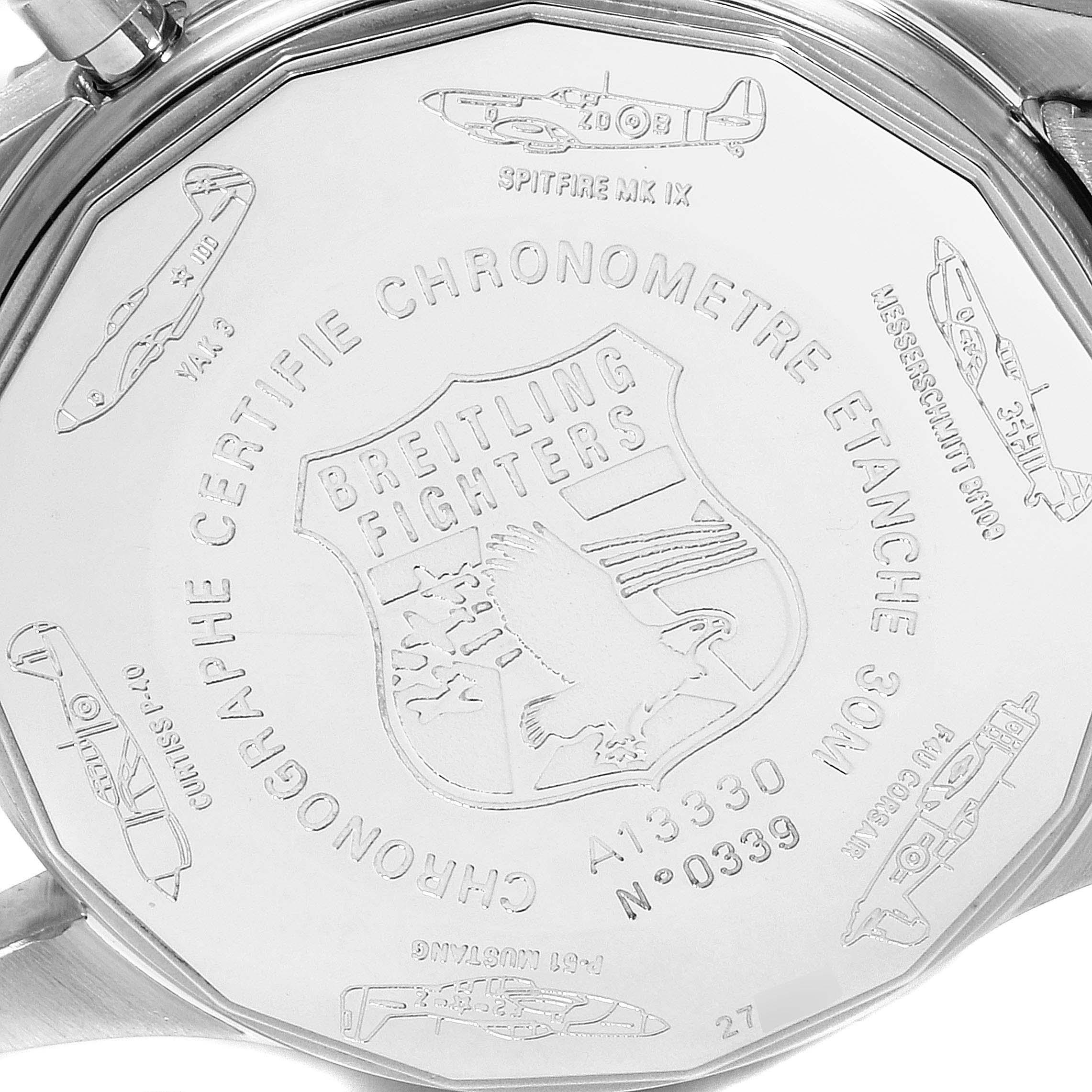 Breitling Navitimer Fighter Black Dial Steel Mens Watch A13330 SwissWatchExpo