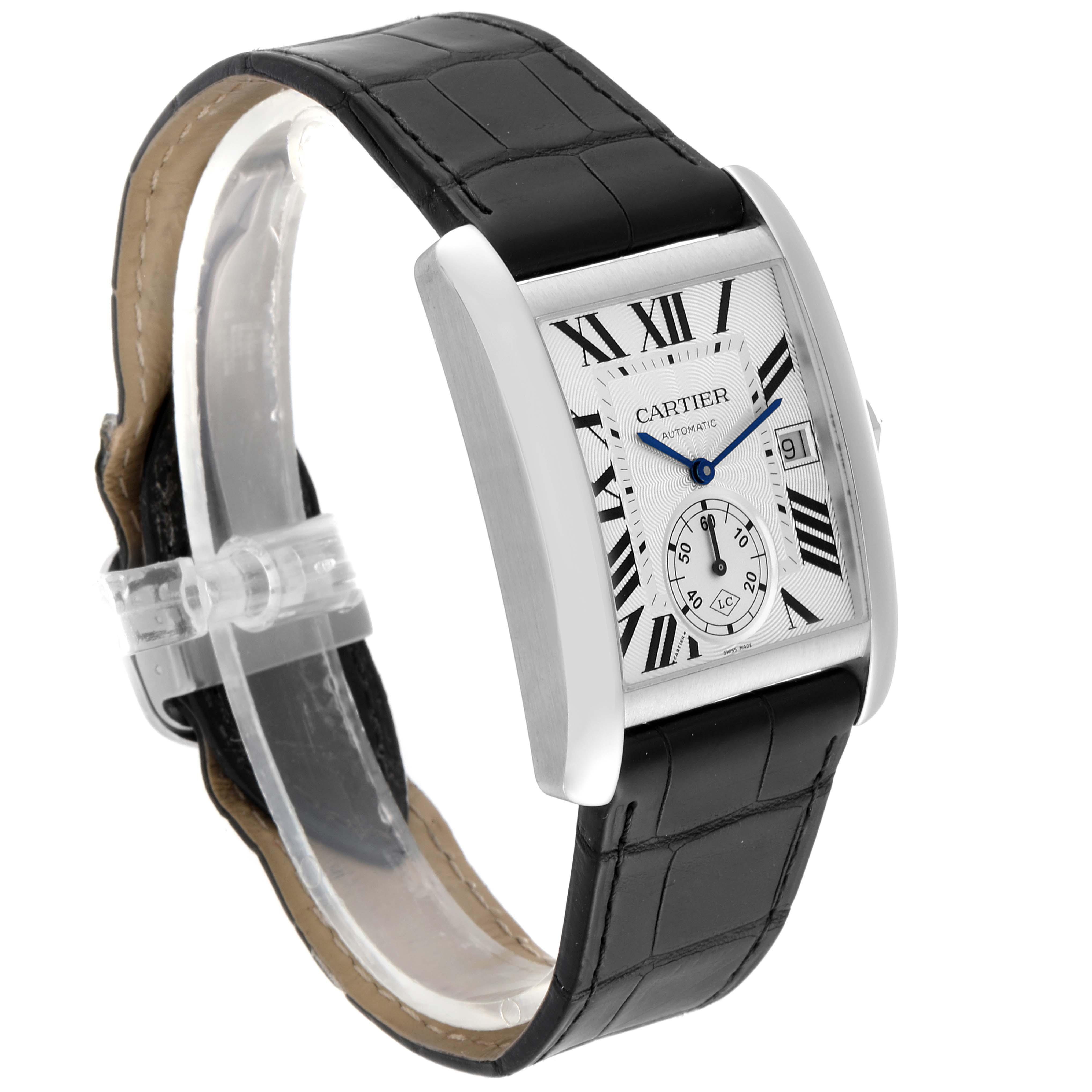 Cartier Tank MC Silver Dial Automatic Steel Mens Watch W5330003 SwissWatchExpo