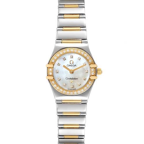 Photo of Omega Constellation Steel Yellow Gold Diamond Ladies Watch 1365.75.00 Box Card