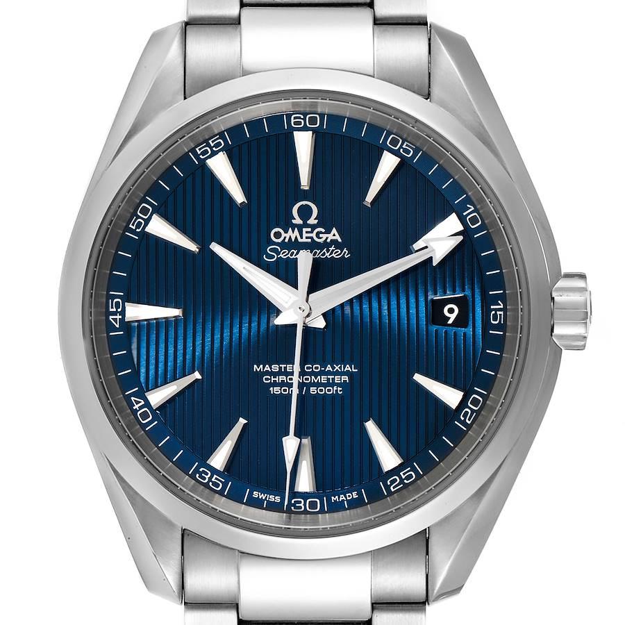 Omega Seamaster Aqua Terra Blue Dial Watch 231.10.42.21.03.003 Box Card SwissWatchExpo