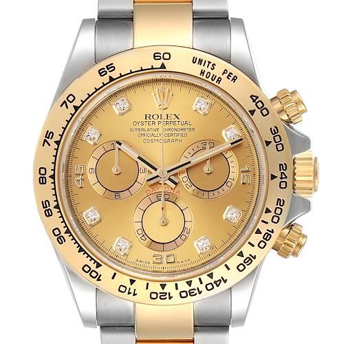 Photo of Rolex Cosmograph Daytona Steel Yellow Gold Diamond Watch 116503